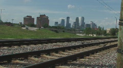 City train track Stock Footage