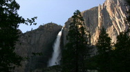 Yosemite HD07 Time Lapse Yosemite Falls Sunset Stock Footage