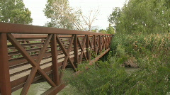 A Bridge Over A River - stock footage