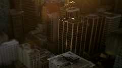 City skyline at sunset 4 - 7D Stock Footage