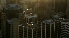 City skyline at sunset 2 - 7D Stock Footage