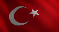 Stock Video Footage of Turkey looping flag waving in the wind