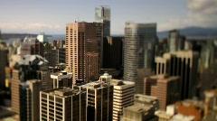 City skyline overview Shift+Tilt 50fps 10 - 7D Stock Footage