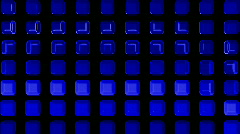 Blue rectangle matrix disco background.machine,pattern,technology,media,pulse,3d Stock Footage
