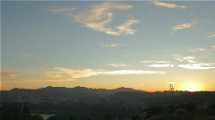 Hollywood Hills Sunset - stock footage