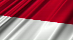 Indonesia Flag Loop 02 Stock Footage