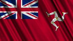 Isle Of Man Civil Ensign Flag Loop 01 Stock Footage