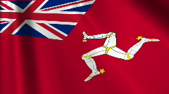 Isle Of Man Civil Ensign Flag Loop 03 Stock Footage