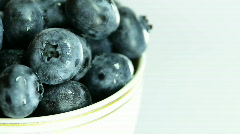 Fresh blueberry.Close up. - stock footage