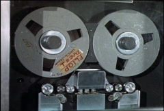 Reel to Reel magnetic computer tape reader COM016 Stock Footage