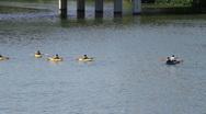 Stock Video Footage of Kayaking on Lady Bird Lake Austin, Texas