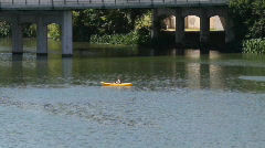 Kayaking on Lady Bird Lake Austin, Texas Stock Footage