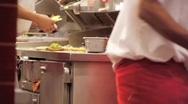 Fast Food Workers Prepare Hamburgers Stock Footage