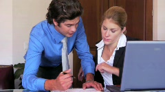 Businesswoman Female Executive Signs Forms Stock Footage