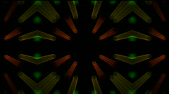 Stage rotate neon fancy light flare glowing lens light line pattern. Stock Footage