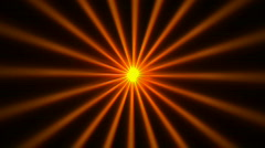 Golden hot ray beam light sunlight glare glow energy lines. Stock Footage