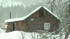 snow & small house - stock footage