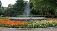 Stock Video Footage of European Style Fountain 3 in 1