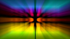 Abstract color light rays tech background,flare glowing line shiny pattern. Stock Footage