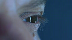 Eyes of a man close-up Stock Footage