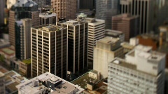 city skyline Shift+Tilt 50fps 4 - 7D - stock footage
