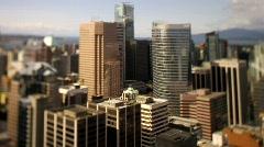 city skyline overview Shift+Tilt 50fps 2 - 7D - stock footage