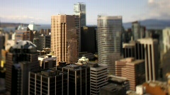 city skyline overview Shift+Tilt 50fps 1 - 7D - stock footage