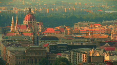 Budapest Downtown  highangle - stock footage