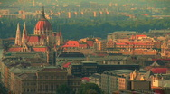 Stock Video Footage of Budapest Downtown  highangle