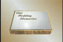 0425 Bridal Wedding Album 2 two page opening - stock footage