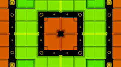 3d color square mosaics fancy pattern. Stock Footage