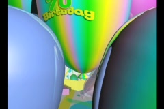 3736 Happy 70th Birthday Stock Footage
