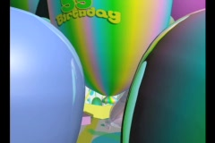 3733 Happy 55th Birthday Stock Footage