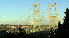 Suspended bridge. Industry structure. Stock Footage