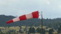 Windvane near an airport  Stock Footage