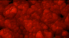 3d blood cells in space.alveolus,artery,bacterium,blood,bloodcell,cell,erythrocy Stock Footage