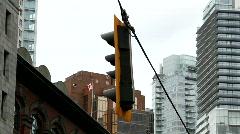 city traffic light 1 -7D - stock footage
