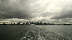 Skyline seen from Ferry 4- 7D Stock Footage