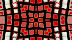 Abstract red deform mosaics fragment pattern particles background. Stock Footage