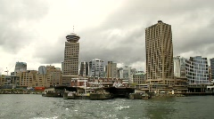 Skyline seen from Ferry 1 - 7D Stock Footage