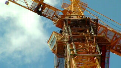 Crane on sky background Stock Footage