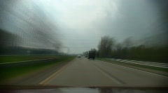 DETROIT-Highway timelapse - stock footage