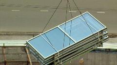 Double glazing windows glass Stock Footage