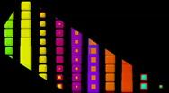 Color button dance,music rhythm show.computer,creativity,pattern,technology,ente Stock Footage