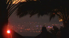 Cat in the dark of city Stock Footage