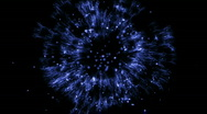 Blue explosion particle in space. Stock Footage