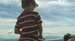 Boy fishing Stock Footage