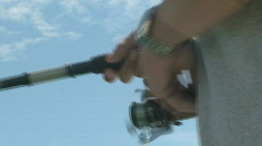 Fishing close up Stock Footage