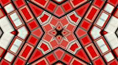 Red deform mosaics rays structure pulse ripple electronic disco background. Stock Footage