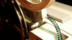 Old projector close-up Stock Footage